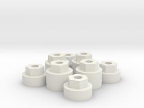 Micro RC wheel widener. in White Natural Versatile Plastic