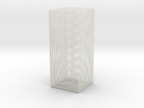 rock_vase_square_hexacore_export in White Natural Versatile Plastic