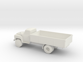 S Scale Flat Bed Truck in White Natural Versatile Plastic