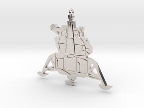 Lunar Lander Pendant in Rhodium Plated Brass
