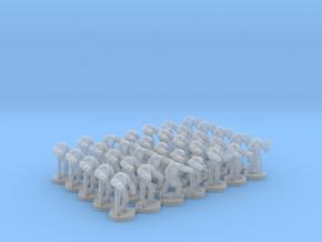 6mm B2 Super Combat Robots X35 in Smooth Fine Detail Plastic