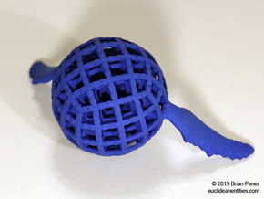 Orb-Whale in Blue Processed Versatile Plastic