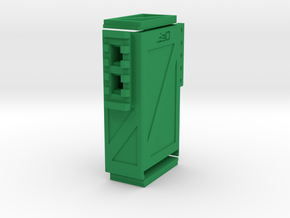 Crate Battery Box (54mm x 27mm x 94mm ID) in Green Processed Versatile Plastic