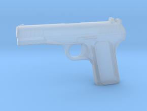 1:3 Miniature Tokarev Pistol in Smooth Fine Detail Plastic