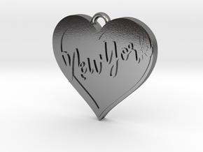 I love New York Pendant 1 in Polished Silver