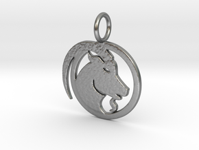 Kapricorn 1.5 inch in Natural Silver