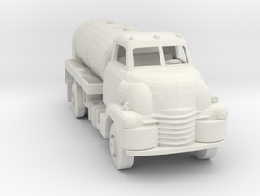 S Scale Old Tanker Truck in White Natural Versatile Plastic