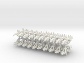 Confederate Speeders in White Natural Versatile Plastic