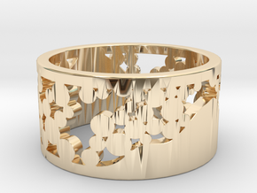 4SEASONS WINTER  in 14k Gold Plated Brass: 5 / 49