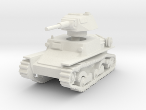 L6 40 Light tank 1/87 in White Natural Versatile Plastic