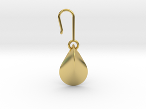 Earrings | Oloid in Polished Brass (Interlocking Parts)
