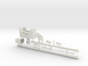 1/50th Chipper Truck Boom with bucket and saw in White Natural Versatile Plastic