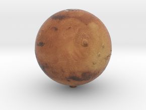 "Mars /12"" Earth globe addon in Natural Full Color Sandstone"
