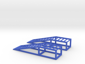 Model Car Ramps - 1/24 - Model Car Diorama in Blue Processed Versatile Plastic