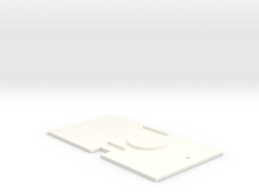 Kato Shay deck plate in White Processed Versatile Plastic