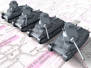 1/285 6mm French SARL 42 Tanks (75mm SA44 Gun) x4 in Smoothest Fine Detail Plastic