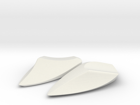 Lennon Mirror Eliminators - Yamaha FZ1 ('06-'15) in White Natural Versatile Plastic