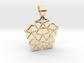 Golden ratio tiling - Lotus [pendant] in 14K Yellow Gold