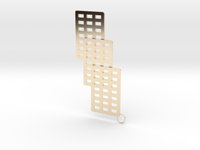 3 Cube Earring in 14K Yellow Gold