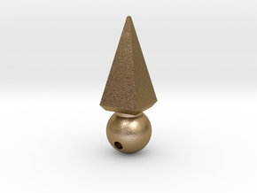 Ball Sharp Earring in Polished Gold Steel