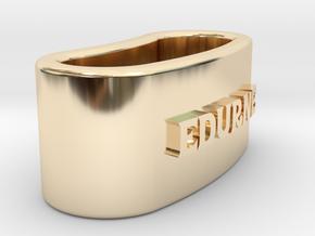 EDURNE 3D Napkin Ring with lauburu in 14K Yellow Gold
