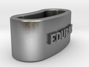 EDURNE 3D Napkin Ring with lauburu in Natural Silver