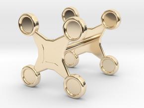 Fidget Spinner Cufflink in 14K Yellow Gold