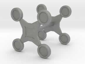 Fidget Spinner Cufflink in Gray PA12