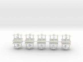 Interceptor Fighters - Concept C  in White Natural Versatile Plastic