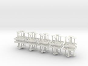 Barricudas in White Natural Versatile Plastic