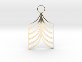 Lined Earring in 14K Yellow Gold