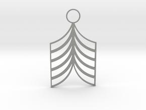 Lined Earring in Gray PA12