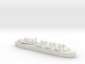landing ship tank MK3 LST MK3 1/1200 HMS MESSINA  in White Natural Versatile Plastic
