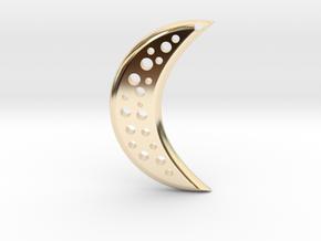 Moon Earring in 14k Gold Plated Brass