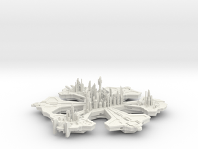 Atlantis 16 Hollow in White Natural Versatile Plastic