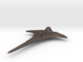 Ancient Ship (120mm with shuttle) in Polished Bronzed Silver Steel