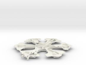 Atlantis 35h 1 in White Natural Versatile Plastic