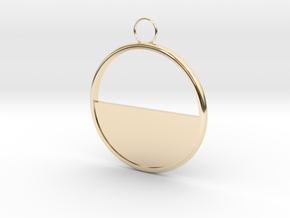 Round Earring in 14k Gold Plated Brass