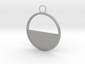 Round Earring in Aluminum