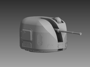 AK 100 100mm Turret 1/200 in Smooth Fine Detail Plastic