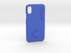 iPhone XS Wahoo Mount Case in Blue Processed Versatile Plastic