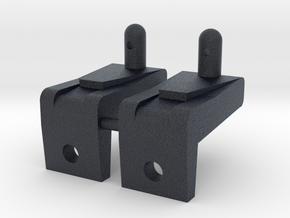 Thundershot (x2) Extra Tall Front Body mounts in Black PA12
