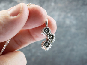 Barnacle Pendant - Nature Jewelry in Polished Silver