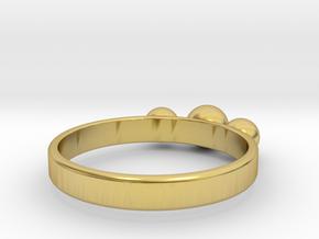 3 Eye Ring in Polished Brass