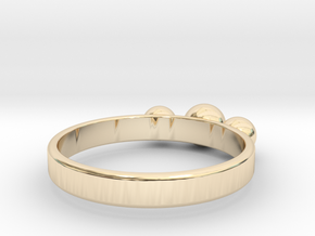 3 Eye Ring in 14k Gold Plated Brass