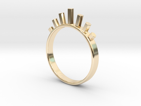 Ring with Hexagons in 14K Yellow Gold