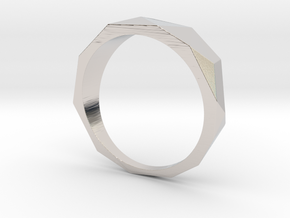 Low Poly Ring in Platinum: 8 / 56.75
