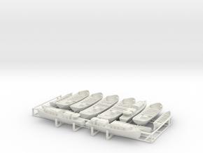 1/192 Arizona Boat Set in White Natural Versatile Plastic
