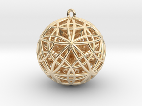 """Sphere of Sacred Union 2"""" Pendant  in 14K Yellow Gold"""