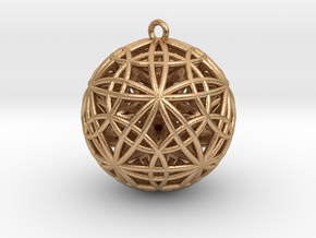 """Sphere of Sacred Union Pendant 2""""  in Natural Bronze"""